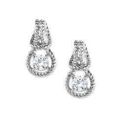 2/3rd Carat Twt. Cubic Zirconia Love Knot Earrings in Sterling Silver #earpinearrings #sterlingsilverearpins #earringsthatgoup #pinearrings #earpinsjewelry #earpin #earpin #earspirals #earspirals #slideonearrings #climbtheearearrings #wrapearrings #nonpiercedearrings #earcuffs #personalizedbracelets #earcuffs #cuffearrings #cliponearrings #earspiralsearrings #earspiralearrings