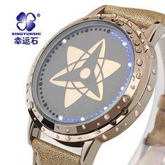 Naruto watch  http://www.aliexpress.com/store/product/Anime-Naruto-watch-Sasuke-Kakashi-anime-watch-LED-wrist-watch-touch-screen-the-mark-fashion-waterproof/1352236_2013980916.html