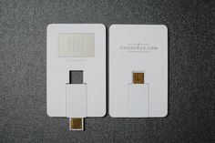 Simple business cards that double as USB flash drives