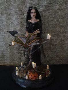 SHADOWSCULPT OOAK WITCH wicca gothic halloween by shadowsculpt