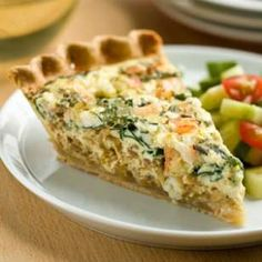 This healthy quiche recipe is perfect for entertaining—the quiche can be made ahead and is just as flavorful served warm or at room temperature.