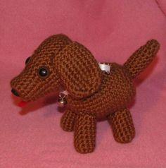 Crocheted Amigurumi Baby Dachshund by APDesigns on Etsy, $3.50