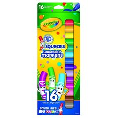 Crayola Pipsqueaks Markers, Washable, 16ct - Assorted Colors,
