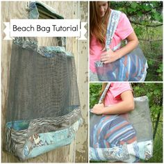 quilted tote bags for the beach tutorial / patchwork posse