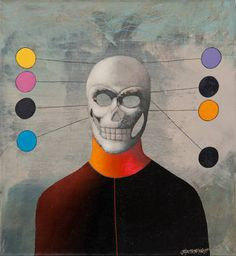 "Saatchi Art is pleased to offer the painting, ""Calavera,"" by Alex Berdysheff. Original Painting: Oil on Canvas. Original Paintings, Oil On Canvas, Painting, Abstract Art, Art, Abstract, Saatchi, Saatchi Art, Calavera"