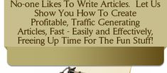 Article Writing - Love it/Hate it/Nail it