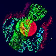Maria Under A Pulsar Sight Installation Modern Art, Contemporary Art, Dark Energy, Saatchi Gallery, Saatchi Online, Psychedelic, Saatchi Art, Fine Art, Artist