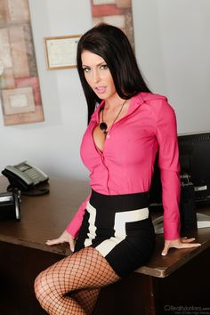 Jessica Jaymes as the sexy secretary #Nylons #Office