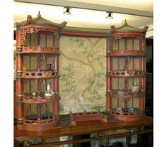 This chinoiserie curio cabinet is so fabulous from-Gracie: Handpainted Wallpaper, Custom Furniture, Asian Art, Restoration