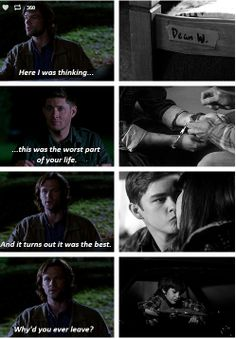 [GIFSET] 9x07 Bad Boys. Love this episode. Broke me heart that he had to leave this life where he was happy and settled in, but he always put Sammy before himself