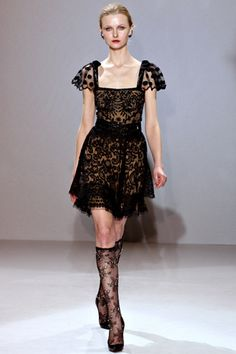 Collette Dinnigan polka dots and lace. <3