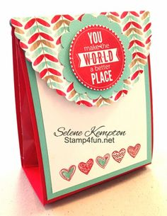 Create with Selene: 2/6 Stampin Up Starburst bundle Pouch, Valentine's Day Treat DIY