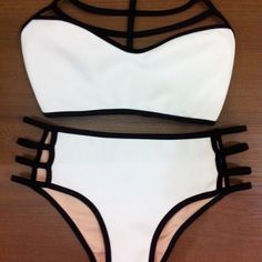 Sexy Hollow Out High Waisted Bikini