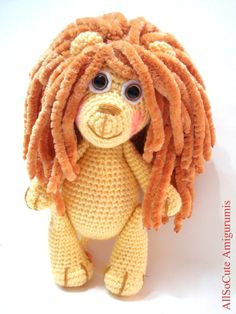Pattern Lion Pattern Crochet Tutorial Amigurumi Lion by AllSoCute, $4.50