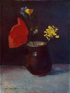 Odilon Redon「Pitcher of Flowers」