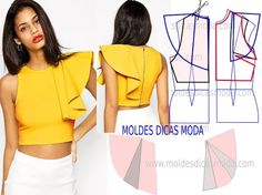 Amazing Sewing Patterns Clone Your Clothes Ideas. Enchanting Sewing Patterns Clone Your Clothes Ideas. Dress Sewing Patterns, Blouse Patterns, Clothing Patterns, Blouse Designs, Skirt Patterns, Coat Patterns, Fashion Sewing, Diy Fashion, Ideias Fashion