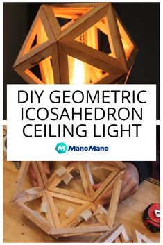 Geometric shapes are super trendy at the moment, and what's cooler than a giant 20-sided icosahedron hanging from your ceiling? If you want to create your own bespoke and very unique ceiling light, then this is the DIY for you.