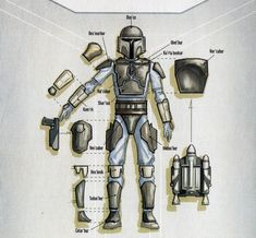 """""""Mandalorian armor and names of individual parts in Mando'a according to Death Watch Manifesto [from Bounty Hunter Code] """" Star Wars Concept Art, Star Wars Fan Art, Star Wars Pictures, Star Wars Images, Star Wars Rpg, Star Wars Clone Wars, Mandalorian Cosplay, Cosplay Armor, Space Opera"""