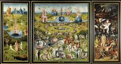 The Garden of Earthly Delights Triptych - Hieronymus Bosch - Museo Nacional del Prado - June 2016 Most Famous Paintings, Great Paintings, Watercolor Paintings, Hieronymus Bosch Paintings, Garden Of Earthly Delights, Foto Art, Michelangelo, Oeuvre D'art, Art History