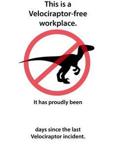 velociraptor signs - Google Search
