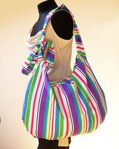 Big Sky Messenger Cross Body Bag - Dzika Sztuka Big, cotton bag - perfect for these who like carrying all world inside a bag!