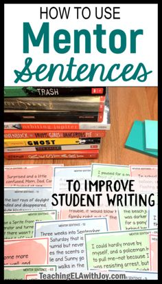 Mentor sentences are great models for students to improve and expand sentence skills! Find ideas on how to teach with mentor sentences and challenge your students to create strong sentences with varied structures. Improve Writing Skills, Writing Lessons, Teaching Writing, Writing Activities, Writing Ideas, Teaching Ideas, Writing Art, Teaching Strategies, Teaching Tools
