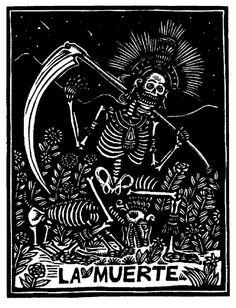 la-historia-es-nuestra:La Muerte, José Guadalupe Posada