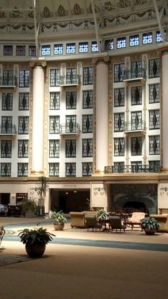 The West Baden Springs Hotel in French Lick, Indiana.  A great place to spend a couple of days. Don't know anywhere with nicer rooms. Stayed for our 32nd anniversary.  Kids enjoyed it too.