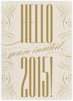 Happy New Year Filigree 2015 - Invitation - Paperless Post