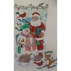 AP1715 Santa & Snowman Stocking