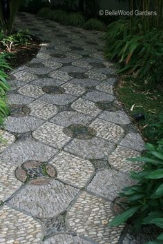Separate stepping stone combined to make a whole