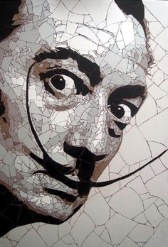 Salvador Dali Mosaic Art By Ed Chapman / Celebrity Art Mosaic Glass, Glass Art, Mosaic Portrait, Mosaic Artwork, Mandala, Arte Horror, Salvador Dali, Tile Art, Oeuvre D'art