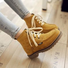 be2f785e8e British Womens Lace Up High Top Military Ankle Boots Round Toe Casual Shoes