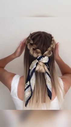 Easy Hair Tutorials Easy Hair Tutorials Beauty Tutorials Make-Up Nail Design Hair Styles Beauty Tips beautytut Fab Hair Tutorials hair haircut hairstyle nbsp hellip videos braids Braided Hairstyles Updo, Scarf Hairstyles, Pretty Hairstyles, Wedding Hairstyles, Summer Hairstyles, Easy Medium Hairstyles, Cute Hairstyles With Braids, Braided Hairstyles For Long Hair, Volume Hairstyles