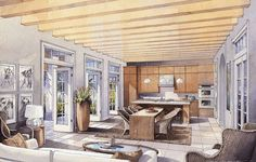 Inspiration perspective interior design renderings, home int Croquis Architecture, Architecture Design, Interior Design Renderings, Drawing Interior, Watercolor Architecture, Interior Rendering, Interior Sketch, Best Interior, Home Interior Design