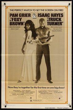 TRUCK TURNER FOXY BROWN one sheet movie poster 27x41 BLAXPLOITATION ISAAC HAYES