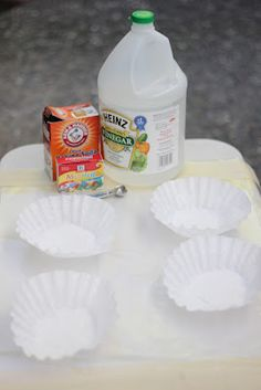 Fizzy Fireworks  Materials Needed:      vinegar     baking soda     measuring spoon     spray bottle     water     coffee filters     contact paper ...