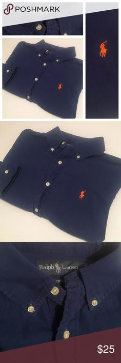 """Polo Ralph Lauren Custom Fit Button shirt Sz L Polo Ralph Lauren Custom Fit Button shirt Sz L.  This item is in excellent pre owned condition.  Like what you see? Click """"Add to bundle"""" on each item you like and I will send you an exclusive no obligation offer for those listings.  I'm open to reasonable offers. Add me to favorites as I always have new items being listed and the hottest  male fashion on posh  Polo by Ralph Lauren Shirts Casual Button Down Shirts"""