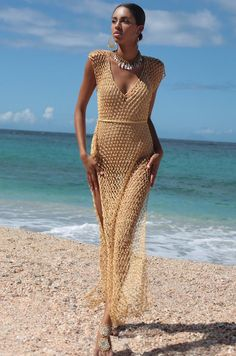 Crochet Beach Dress, Black Crochet Dress, Knit Dress, Crochet Dresses, Spring Look, Mode Crochet, Moda Boho, Maxi Robes, Crochet Fashion