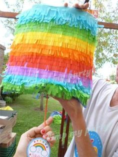 Pinata at a Rainbow Party #rainbow #partypinata