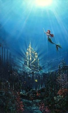 """The Little Mermaid - """"The Light From Above""""- I think part of the reason I love The Little Mermaid, and why I wanted to be a mermaid was because the idea of being able to swim in a huge ocean was almost like mer-people could fly. And that's magical."""