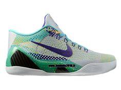 newest 0a0d5 f7d8a Nike Kobe IX Elite Low iD Chaussures Boutique Nike Officiel Pour Homme Vert  - Gris - Violet 639045-ID1