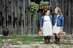 Adorable flower girls! http://www.countryoutfitter.com/style/real-country-wedding-courtny-cordosa/