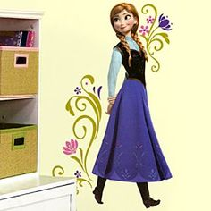 Disney Anna Wall Decals - Frozen | Disney StoreAnna Wall Decals - Frozen - Transform their room into the kingdom of Arendelle with this Anna Wall Decal. The set includes 18 peel and stick wall decals featuring the Frozen sister. Pair it with the Elsa Wall Decal to complete the fairytale makeover.