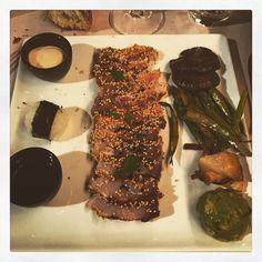 #ricciola #dukes #roma #parioli #dinner #tataki #rice #mushrooms #soy #guacamole #asparagus #foodies#gourmet #foodlovers #whitefish by mr_craniata