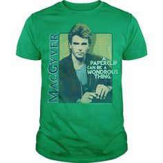 MacGyver Wonderous Paperclip T-Shirts, Hoodies (19$ ==►► Shopping Here!)