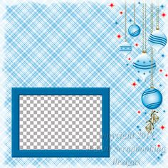 """Layout QP 13.....Quick Page, Blue, Digital Scrapbooking, Christmas Time Collection, 12"""" x 12"""", 300 dpi, PNG File Format"""