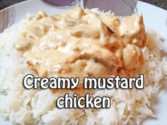 Quick, easy Creamy Mustard Chicken by www.FranglaiseCooking.com l Everyday French food for all the family