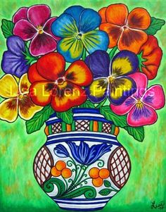 mexican flower paintings - Google Search