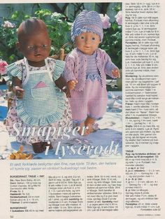 View album on Yandex. Knitting Dolls Clothes, Knitted Dolls, Doll Clothes Patterns, Doll Patterns, Clothing Patterns, Girl Dolls, Baby Dolls, Baby Born Clothes, Baby Barn